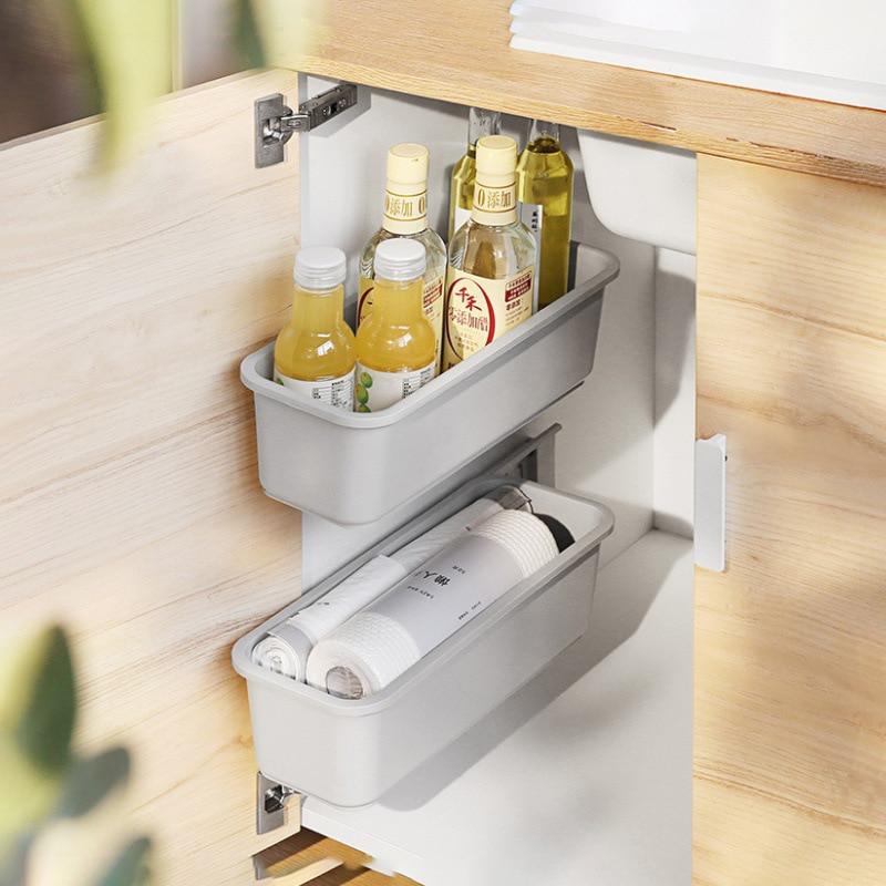 Wall-mounted Drawer Storage Rack Shelf For Kitchen Organizer And Container Bathroom Accessories Cabinet Organizer Storage Basket