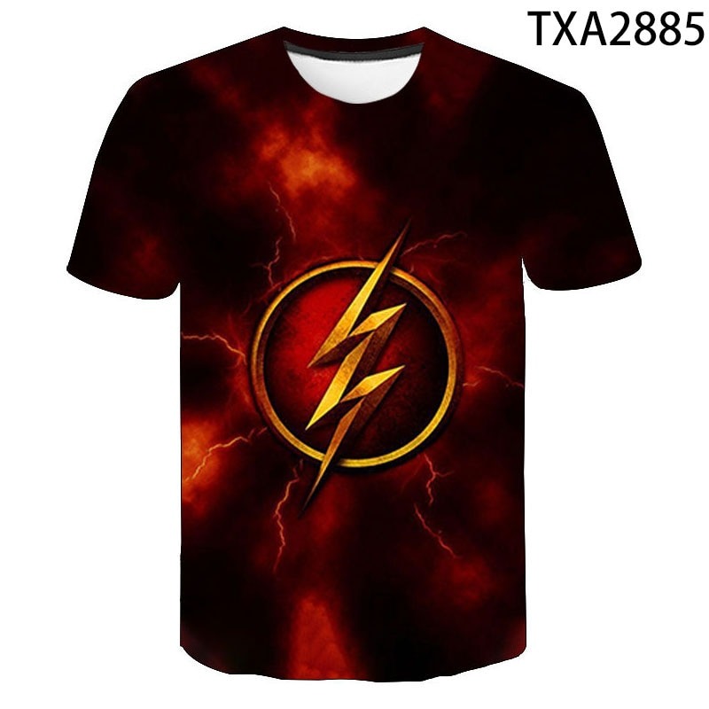 Cool 3D T Shirt Men Women Kids The Flash DC Anime Print T-shirt Summer Casual Short Sleeve Boy Girl Kids Super Hero Tops Tee