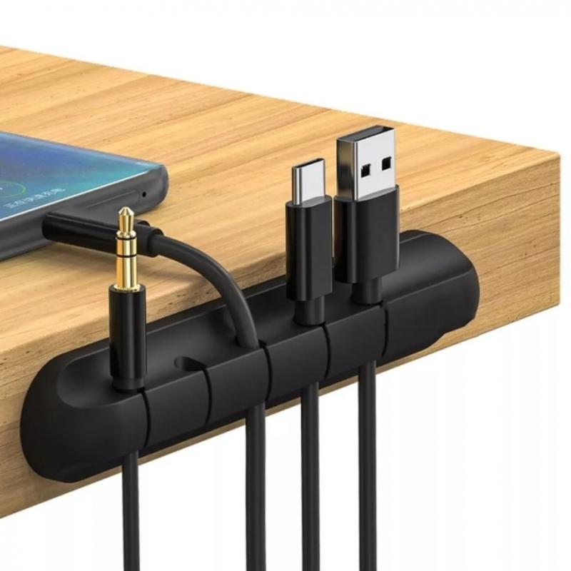 1 @ # USB Cable Organizador personalizado Cable de alambre de soporte...