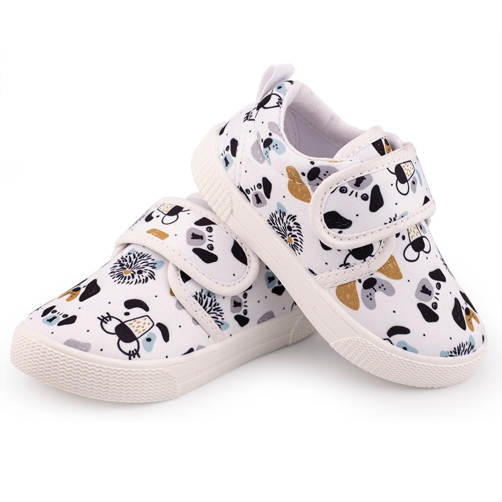 Muyguay Toddler Little Kids Boys Girls Cartoon Dog Unicorn Print Canvas Shoes
