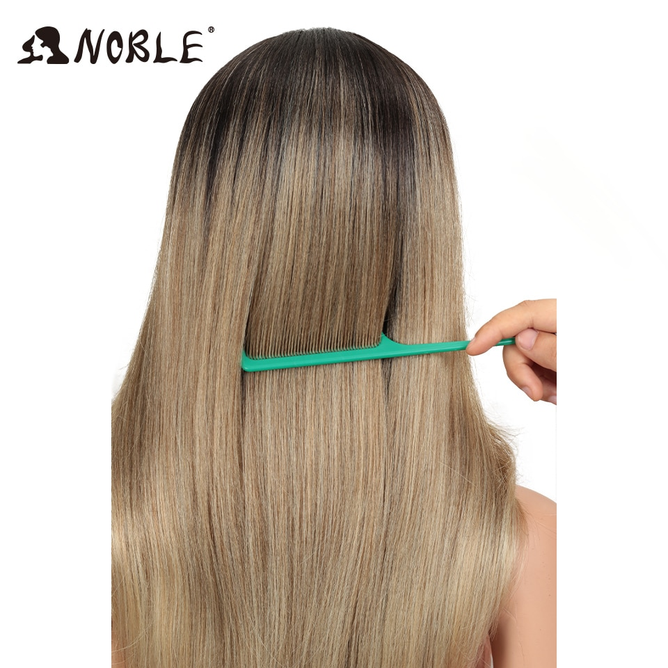 Noble Hair Synthetic Lace Front Wig Long straight 28 Inch 613 Orange Ombre Blonde Wig Heat Resistant Fiber Wigs For Black Women enlarge