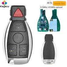 KEYECU 10 pièces/lot pas cher AKDZ Smart télécommande voiture clé-3 + 1 4 bouton & 315MHz/ 433MHz - FOB pour Mercedes Benz BAG & NEC 2000 +