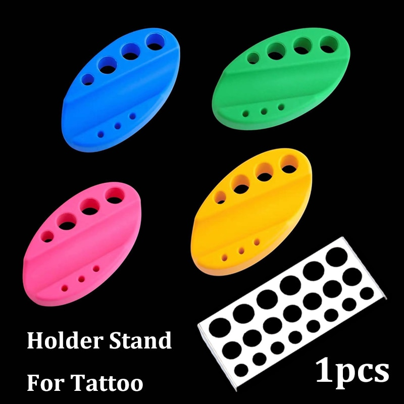 1pcs Oval Silicone Tattoo Pen Holder Stand for Tattoo Microblading Pigment Ink Cup Machine Permanent Makeup Tattoo Accessorie недорого
