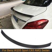 C Class Carbon Fiber Rear Trunk Lid Spoiler Wing for Mercedes Benz W205 C63 AMG C180 C200 C250 Sedan 4D 2015-2017 Rear Spoiler