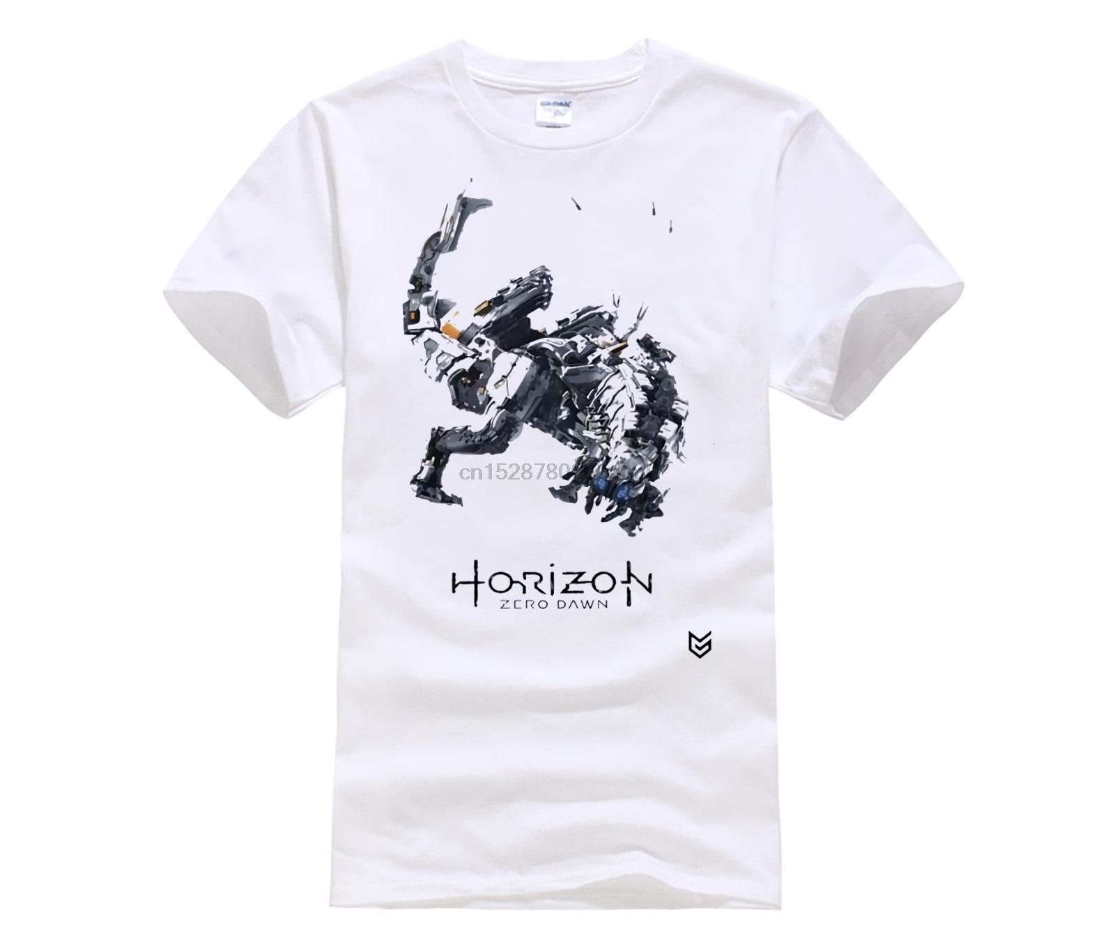 Camiseta informal a la moda para hombre, camiseta Cool Mans con cuello redondo, camisetas de moda para hombre, juego Horizon Zero Dawn, Camisetas estampadas