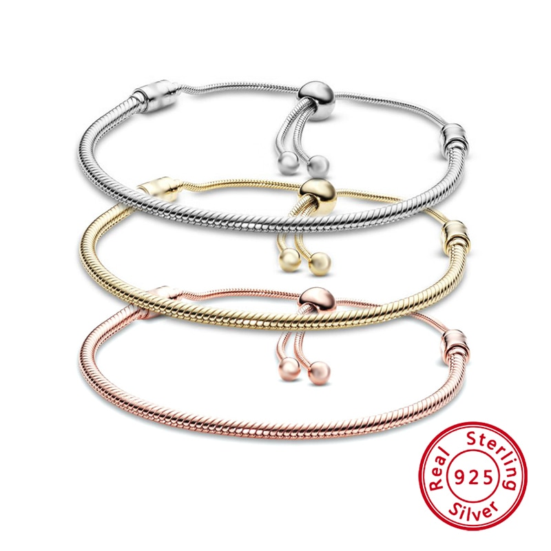 AliExpress - Charm DIY Adjuestable Silver 925 Bracelet for Women Trend Original Design Bangles Fashion Girl Jewelry Gifts