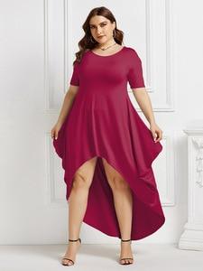 Dress Women 2020summer o Neck Short Sleeve Irregular Party Maxi Long Dress Female Casual Loose Elegant Vestidos Boho Beach Dress