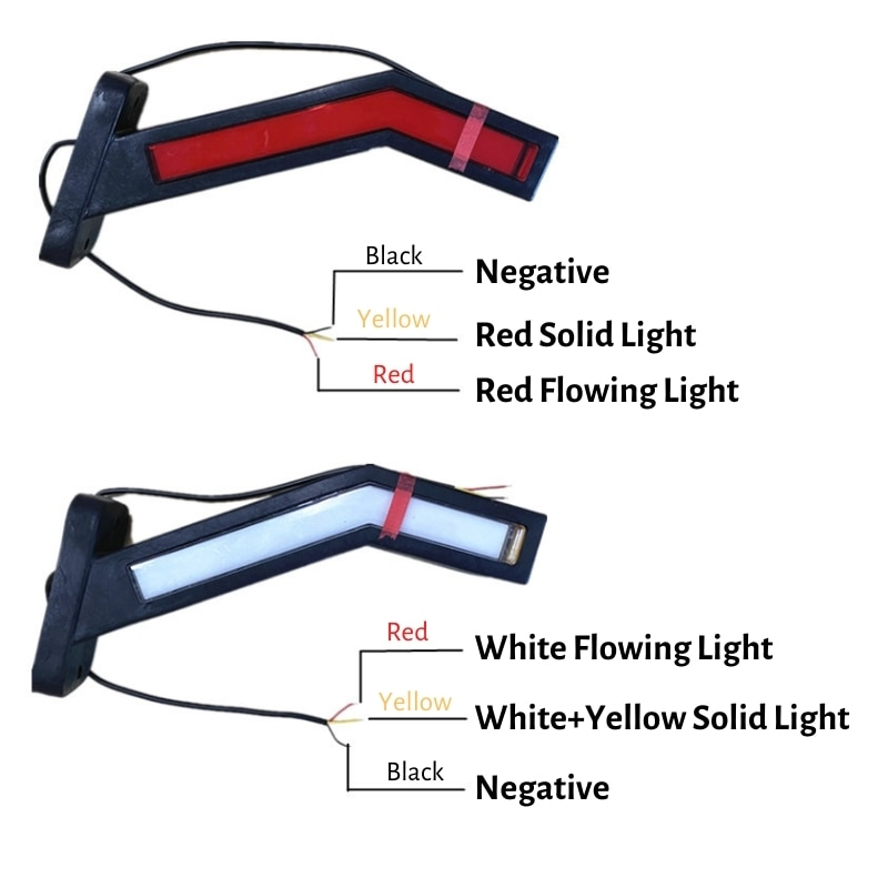 2PCS Trailer Side Marker Lights 24 volt Caravan Truck Accessories Tail Lights Truck Side Lights Parking Rear Lights For Trucks enlarge
