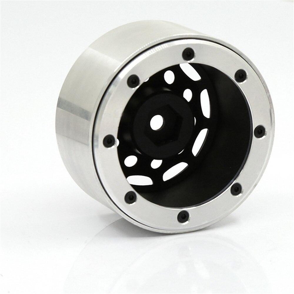 4Pcs 2.2inch Beadlock Wheel Rims For SCX10 TRX-4 Polar wheels W26 1/10 RC Crawler Parts Alloy Wheel Hub enlarge