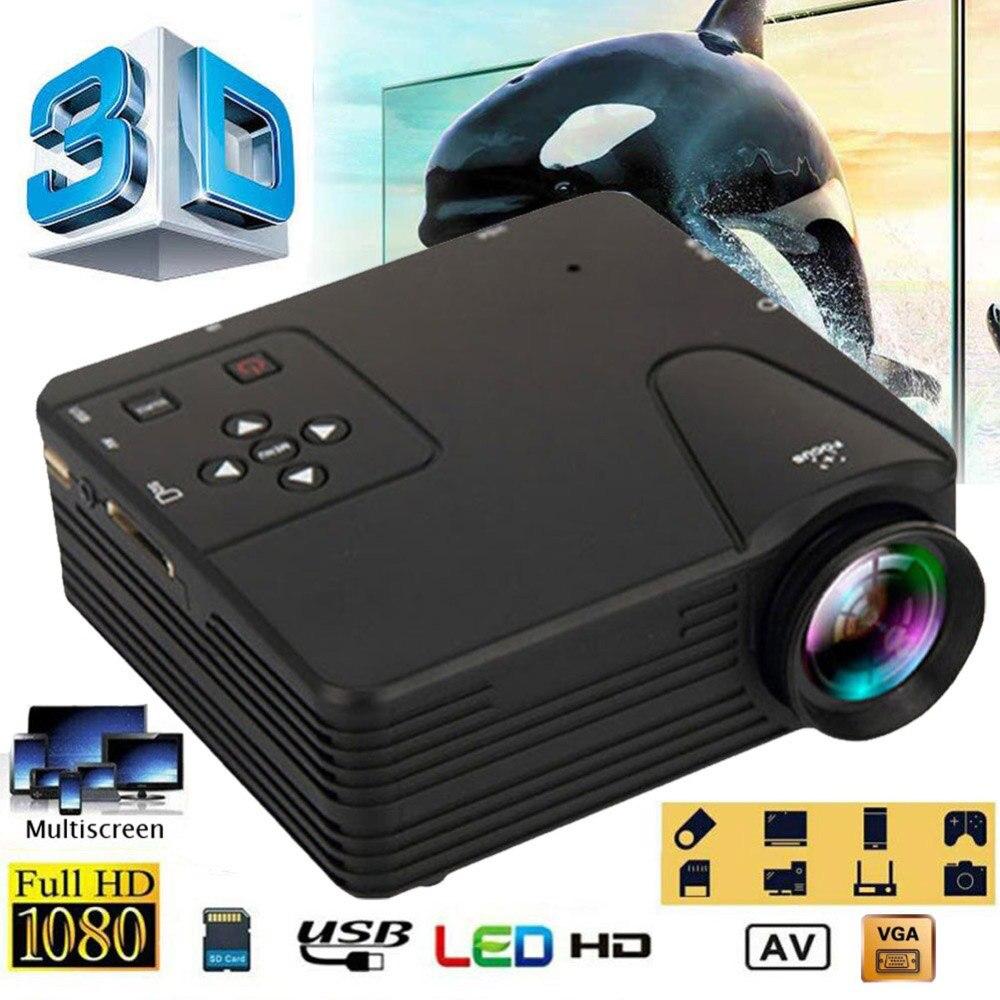 جهاز عرض صغير محمول LED العارض فيديو ثلاثية الأبعاد كامل HD متعاطي المخدرات 1080P لمسرح السينما المنزلية المتنقلة الذكية