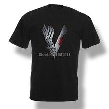 Vikings Logo celtique Ragnar Yggdrasil hommes t-shirts drôles Hip Hop Harajuku t-shirt gymnastique t-shirt 100% coton