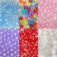 acrylic beads transparent colorful russian 26 letters loose beads for diy handmade making jewelry bracelet necklace accessories