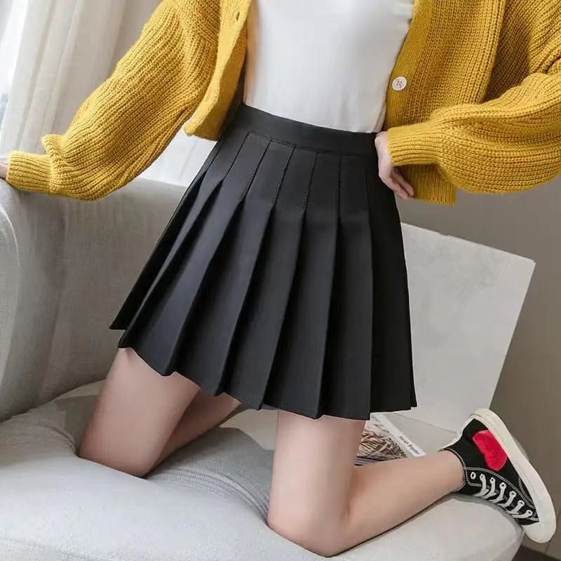 Women Skirt 2021 High Waist Preppy Style Student Pleated Skirts Female Cute Sweet Girls Dance Mini Skirt women skirt fashion high waist pleated skirt sweet cute girls dance mini skirt cosplay preppy uniform school short skirts