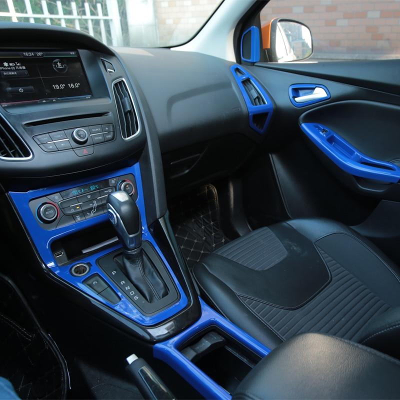 A Little Change Car Chrome Steering Wheel Trim Inner Door Handle Bowl Box Air Vent Cover Sticker for Ford Focus 3 4 MK3 MK4