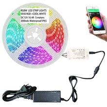 Zigbee Controller Met 12V 5050 Rgbw Led Strip Verlichting Werkt Met Phillips Tint Brug, lightify Hub En Amazon Echo Plus Voor App