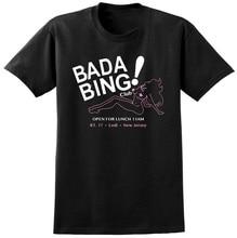 Bada Bing Sopranos inspirado en camiseta Gangster de la Mafia Retro clásico TV mostrar nueva Harajuku camiseta de Hip Hop
