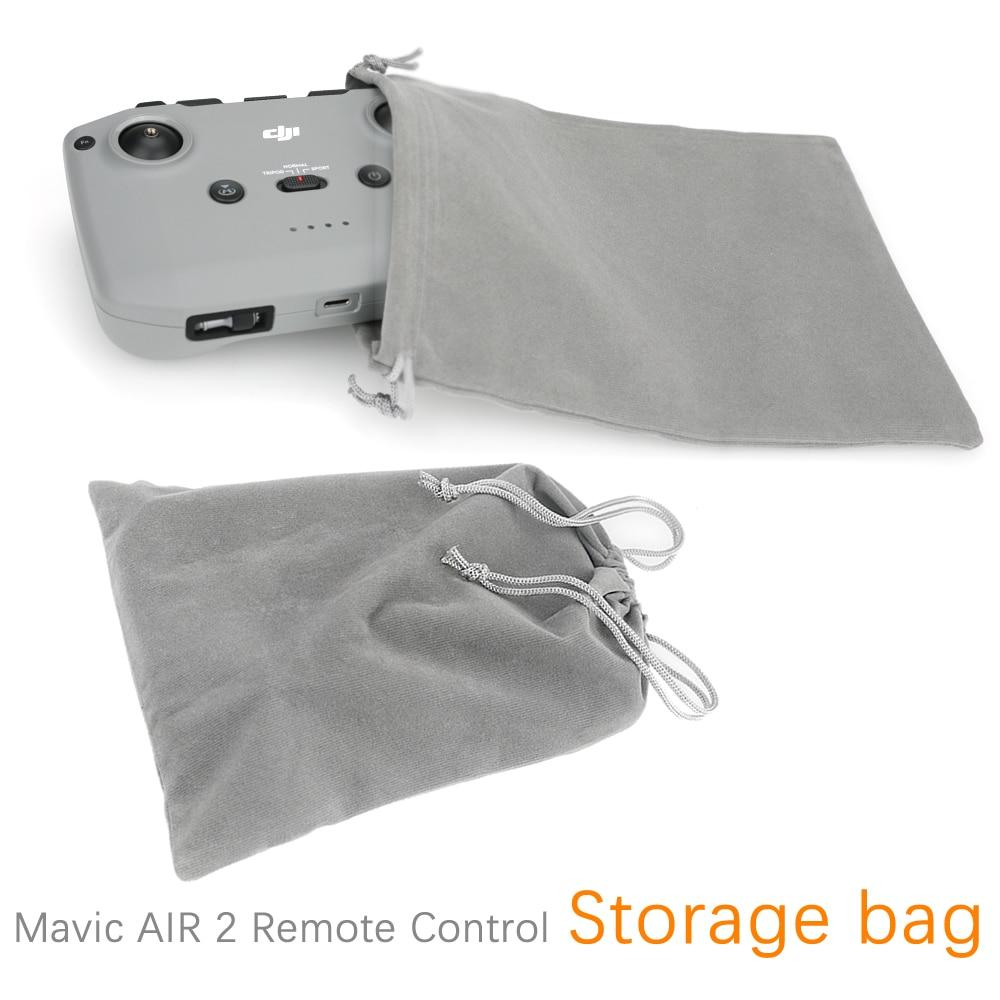 Bolsa de almacenamiento de Control remoto para Dji Mavic Air 2 accesorios funda protectora con cordón de bolsillo