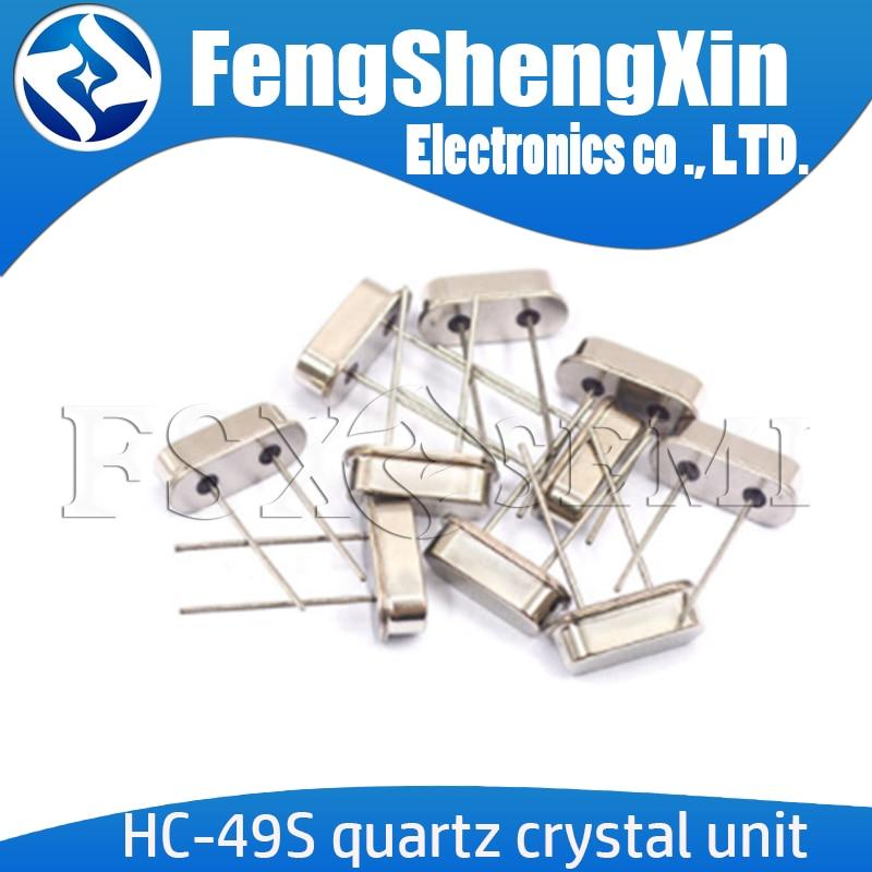 10 Uds HC-49S de cristal de cuarzo de cristal DIP 3,5795 MHZ 4MHZ 4,1943 MHZ 4,9152 MHZ 6MHZ a 6.144 MHZ, 7,3728 MHZ, 8.192MHZ a 9,8304 MHZ