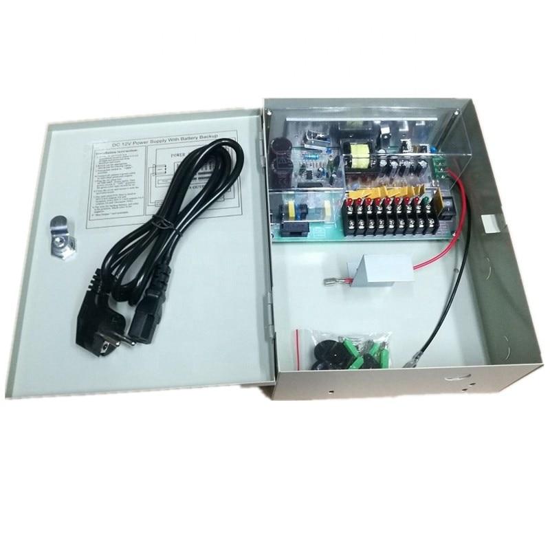 12 فولت 10A امدادات الطاقة دون انقطاع 9CH احتياطية التبديل للبطارية تراكم مع سلك الطاقة