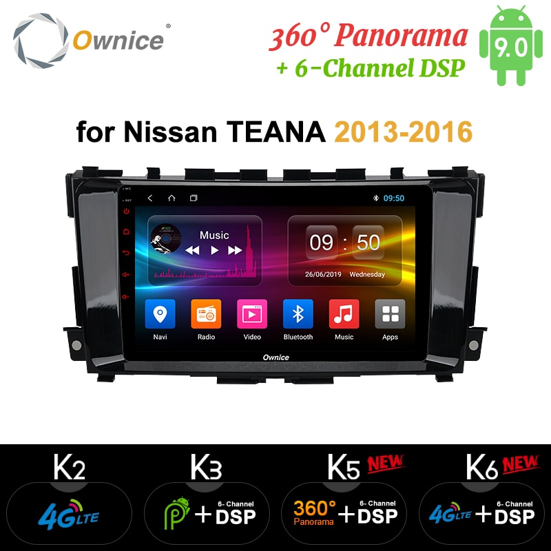 Ownice-lecteur Radio GPS optique 4G DSP   Android 9.0 Octa Core 360 Panorama, K3 K5 K6, pour Nissan Teana Altima 2013 - 2016