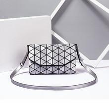 CROCROGO Women's Geometric Luminous Shoulder Hand Bags Girl's Fashion Luxury Brand Lingge Folding La
