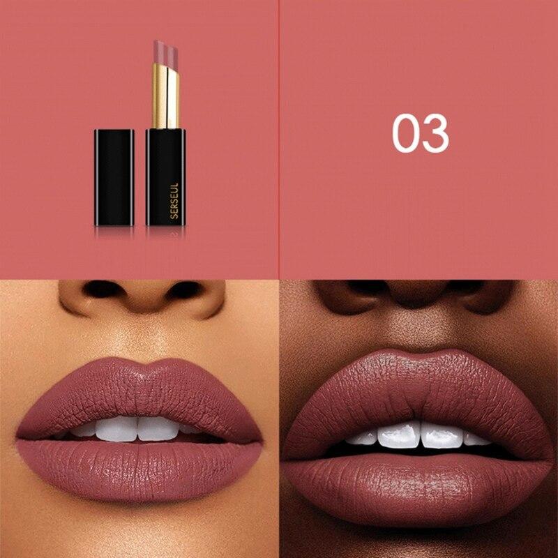 Lápiz labial mate impermeable antiadherente Copa larga duración brillo labial tono terciopelo lápiz de labios tinte maquillaje belleza Maquiagem