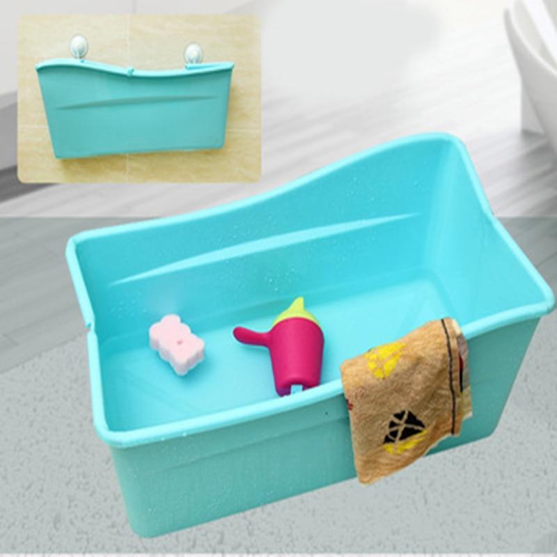Newborn non-slip safe kid bathtub portable baby foldable plastic bath tub swim tubs bath body washing for children shower