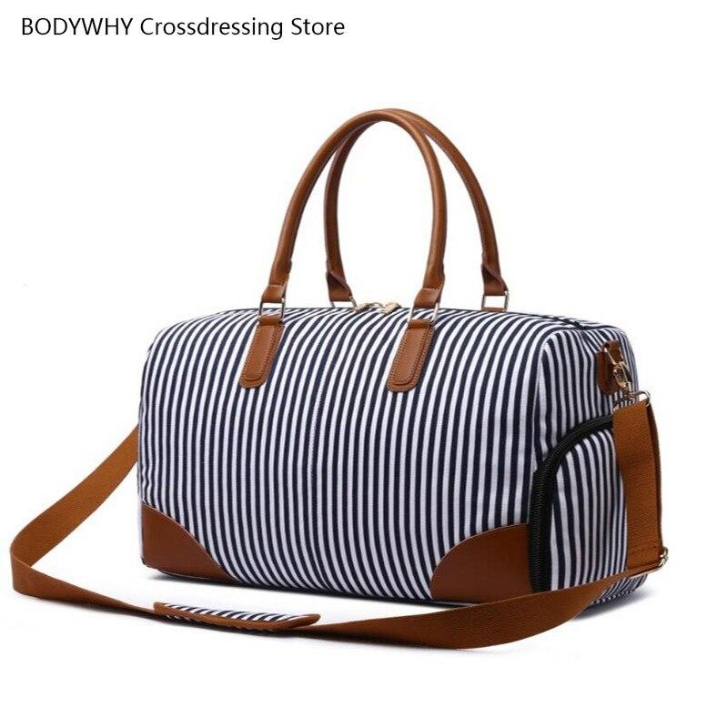 Bolsa de Viagem Bolsa de Ombro Cubos de Embalagem Listra Quente Grande Capacidade Bagagem Bolsas Viaje Mujer