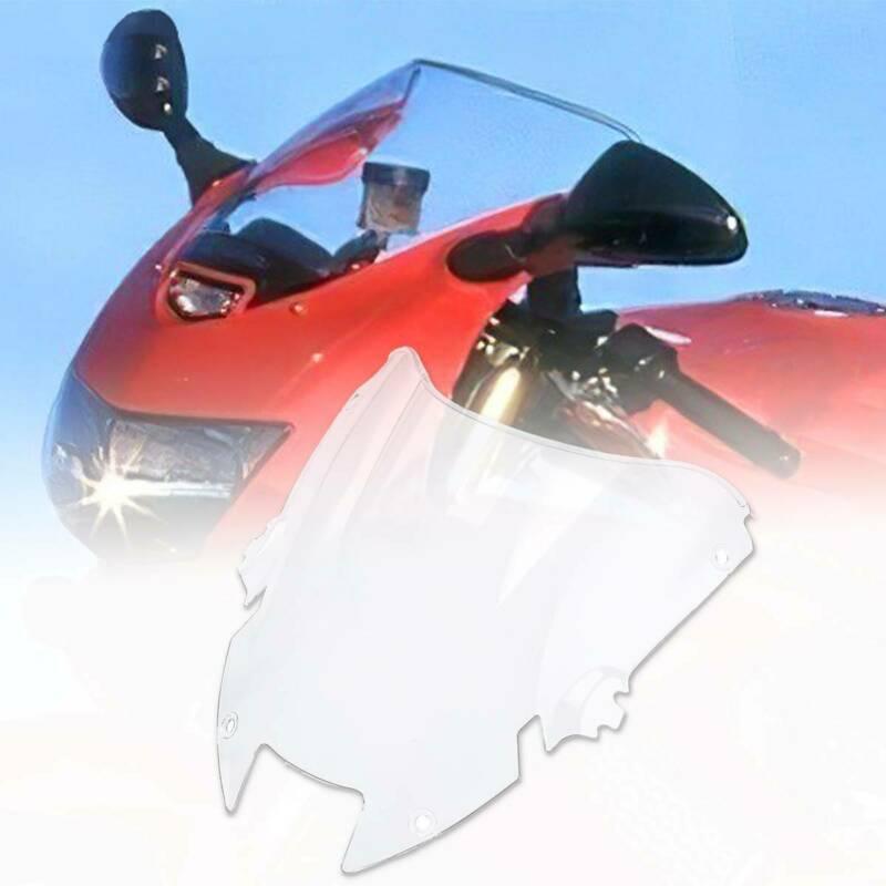 Pantalla de parabrisas de doble burbuja de PC de motocicleta para Honda Super Hawk 1000 VTR1000F 1997-2006