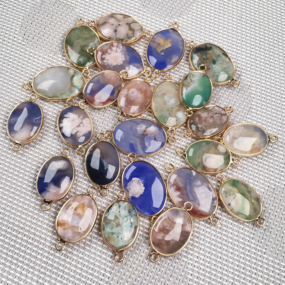 Irregular Shape Purple/Green Agates Pendant Reiki Healing Natural Stone Amulet DIY Jewelry Personality Gift Size 20x35mm