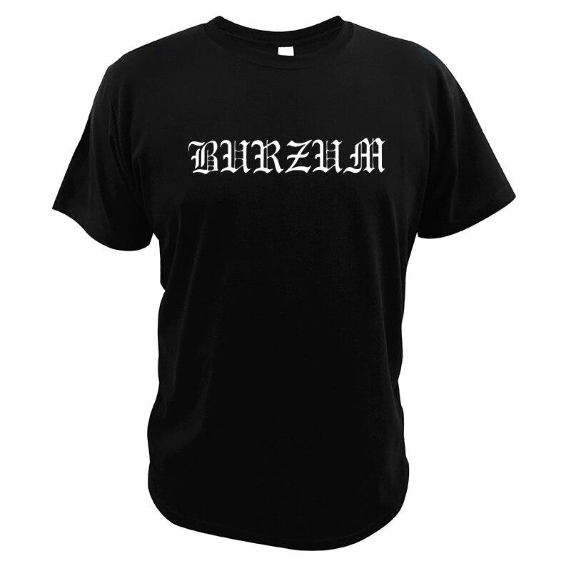 Burzum Футболка 100% хлопок европейский размер мягкие дышащие удобные летние топы наргарот черная футболка с металлической лентой
