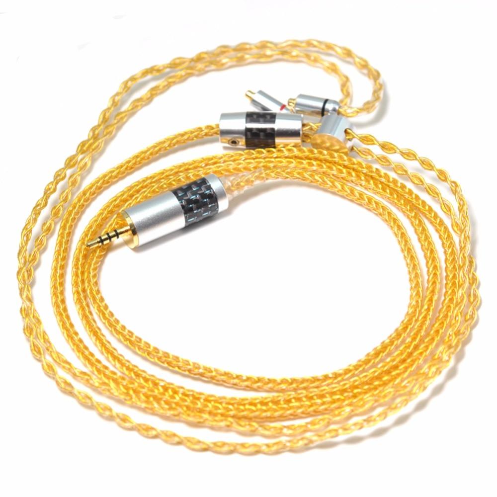 TOP-HiFi 1.2m 8cores  SE846 SE535 SE315 SE215 UE900 Headphone Replacement Audio Cable for DIY Headphone cable enlarge