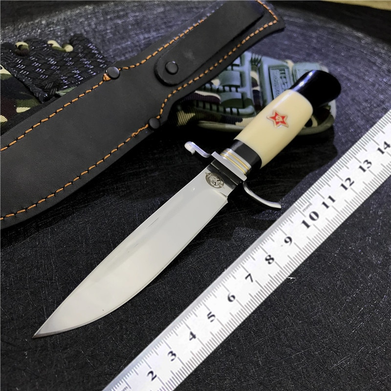 Fixed Blade Nkvd Ussr Finka NKVD Outdoor Survival Hunting Bowie Knives Camping Straight Tactical Knife Self Defense