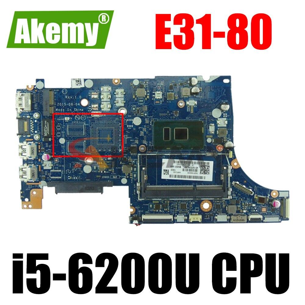 اللوحة الأم للكمبيوتر المحمول اختبار تماما ل LA-D061P E31-80 FRU 5B20K57254 i5-6200U