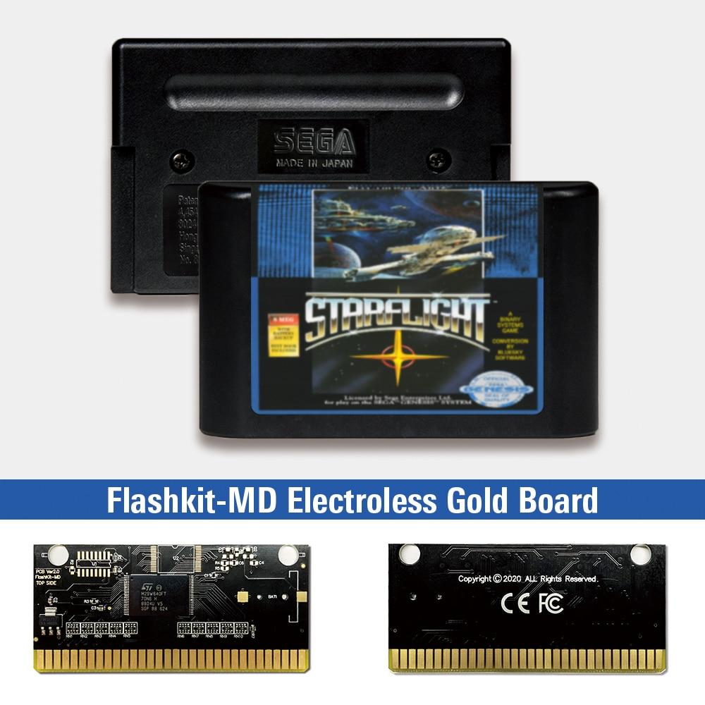 Starflight-tarjeta de circuito impreso para Sega Genesis Megadrive, etiqueta de EE. UU.,...