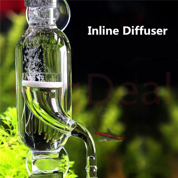 Aquatics Inline Diffusor 12/16 16/22 Glas CO2 Zerstäuber Blase Diffusor Reaktor Injektor für Gepflanzt Aquarien Fisch Tanks
