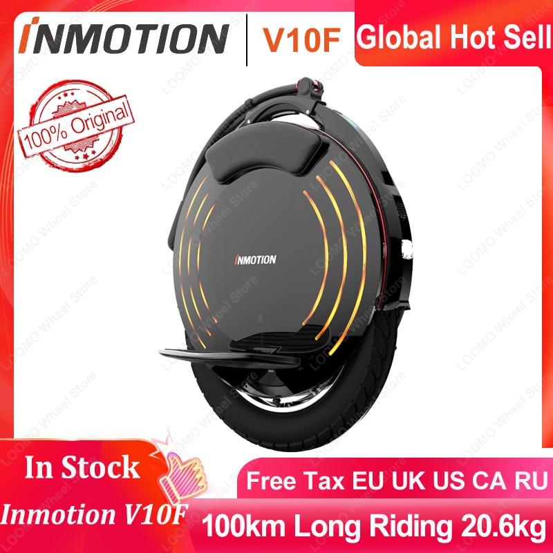 INMOTION-دراجة أحادية كهربائية V10F ، سكوتر بعجلة واحدة ، موازن المحرك 1800 واط ، 650 واط ، السرعة القصوى 40 كم/ساعة ، App blueبوث