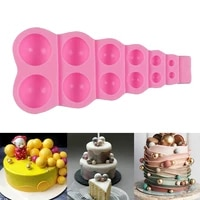 diy 3d semi sphere silicone mold pearl silicone mould cake pastry baking chocolate candy decor silicone mold kitchen supplies