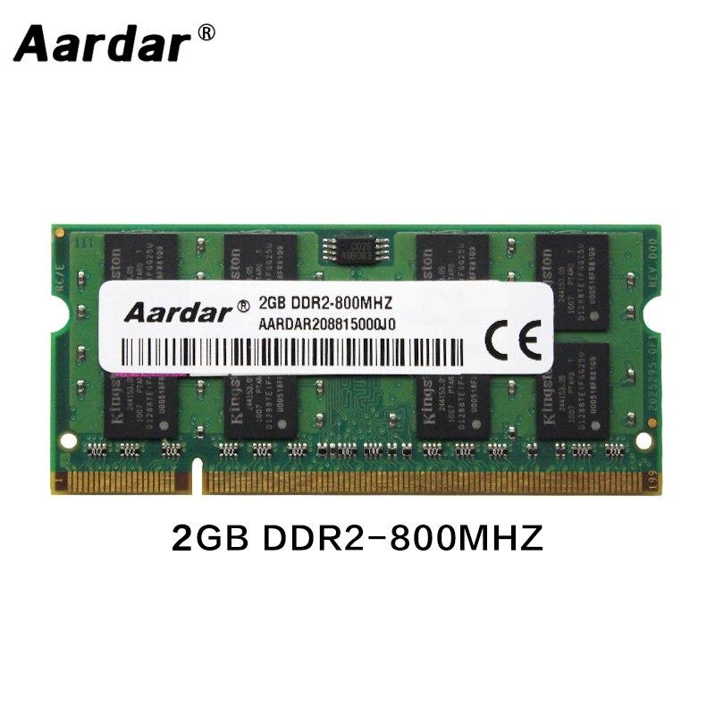 Memoria RAM DDR2 para ordenador portátil, 2GB, 800MHz, 667MHz, acceso aleatorio