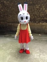 rabbit mascot costume suit cosplay party fancy dress outfits advertising promotion carnival halloween xmas easter adults parade