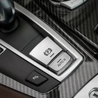 parking brake switch p button cover sickers for bmw f10 f11 f01 f07 f15 f16 f25 f26 button cap silver parking handbrake p case