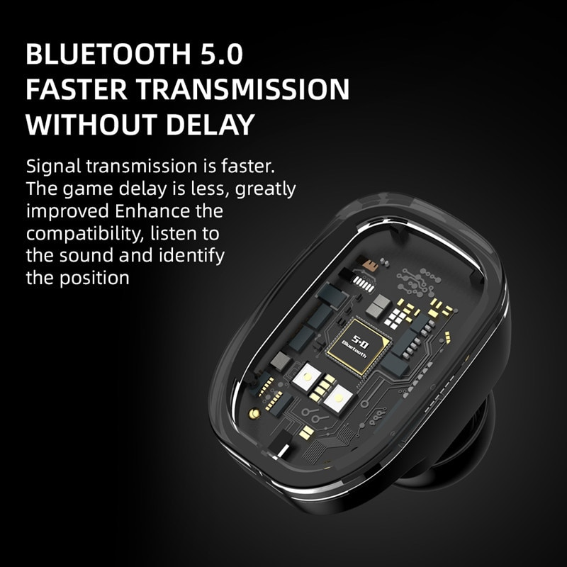 2021 New Bluetooth Headset With Card Mp3 Player Binaural Wireless Sports Running Headset With Charging Compartment enlarge
