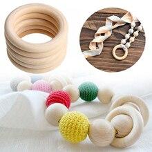 20 piezas anillos de madera 50mm anillo de madera sin terminar círculos para dentición anillo fabricación de joyas DIY macramé manualidades suministros