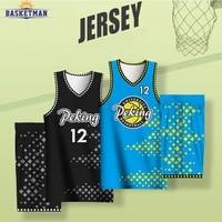 customizable full sublimation basketball uniform for men sportwear high school college team name logo sports training tracksuits