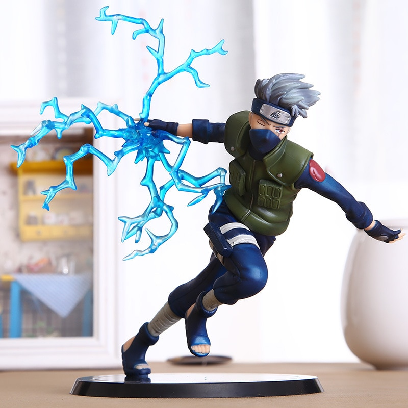 model fans inflames toys naruto 30cm height 1 6 hatake kakashi contain two head action figure toy for collection Naruto Hatake Kakashi  Action Figures Toys Japan Anime Naruto Collectible Figurines PVC Model Toy for Anime Lover  15cm N135