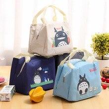 Dessin animé Anime mignon Totoro chat Action Figure imprimé Oxford tissu créatif travailleur boîte à déjeuner sac conservation de la chaleur fourre-tout sac de pique-nique