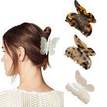3PCS Hair Claw Clips,Butterfly Tortoise Shell Hair Clip,Medium Celluloid French Design Barrettes Hai