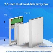 HDD Gehäuse 2 Bay 2,5 zoll 10Gbps USB 3,0/Typ C Raid 4 Modi für Windows Mac Linux 20TB Externe SATA Festplatte Array Box
