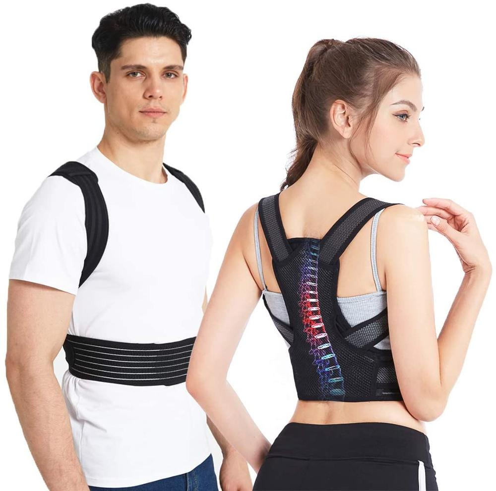 carevas back decompression belt back pain relief for degenerative disc spinal lumbar support brace spinal air traction device Posture Correction Spinal Support Back Brace Bad Posture Back Shoulder Pain Relief Adjustable Lumbar Corset for Posture