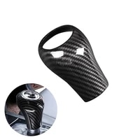 for mercedes benz c e glk class w204 w212 x204 car interior center control gear shift head carbon fiber texture cover decor